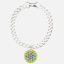Flower of Life Chakra Charm Bracelet, One Charm