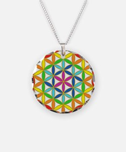 Flower of Life Chakra Necklace