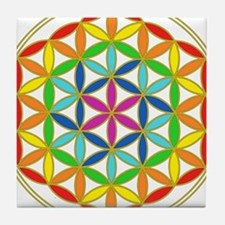 Flower of Life Chakra Tile Coaster
