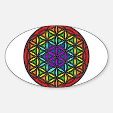Flower of Life Chakra2 Sticker (Oval)