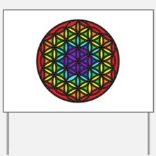 Flower of Life Chakra2 Yard Sign