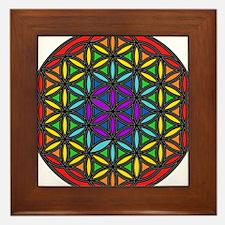 Flower of Life Chakra2 Framed Tile