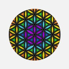 "Flower of Life Chakra2 3.5"" Button (100 pack)"