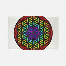 Flower of Life Chakra2 Rectangle Magnet