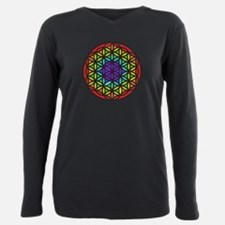 Flower of Life Chakra2 Plus Size Long Sleeve Tee