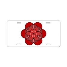 Root Seed of Life Aluminum License Plate