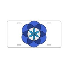 Seed of Life1 Aluminum License Plate