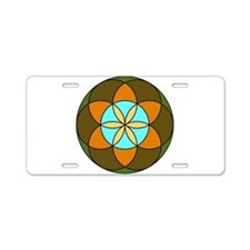 Seed of Life Earth Aluminum License Plate