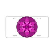 Seed of Life MultiViolet Aluminum License Plate