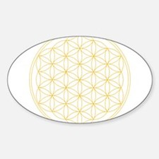 Flower of Life Gold Line Decal