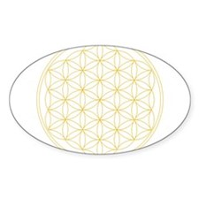 Flower of Life Gold Line Stickers