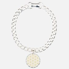 Flower of Life Gold Line Charm Bracelet, One Charm
