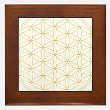 Flower of Life Gold Line Framed Tile
