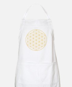 Flower of Life Gold Line Apron