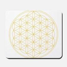 Flower of Life Gold Line Mousepad