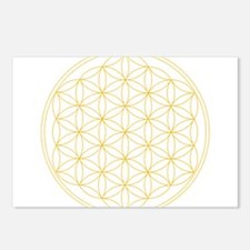 Flower of Life Gold Line Postcards (Package of 8)