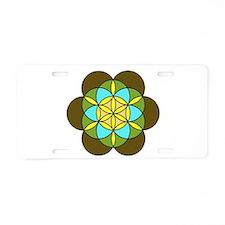 Flower of Life Earth2 Aluminum License Plate