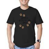 Bernese mountain dog Fitted Dark T-Shirts