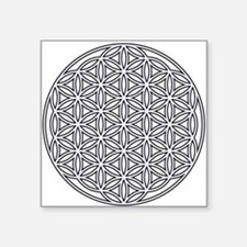 "Flower of Life Single White Square Sticker 3"" x 3"""