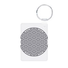 Flower of Life Single White Keychains