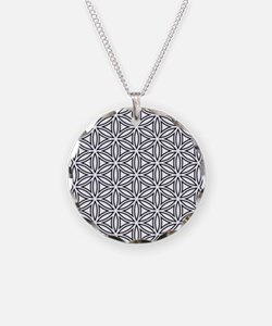 Flower of Life Single White Necklace