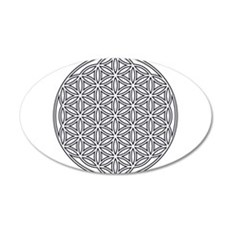 Flower of Life Single White Wall Sticker