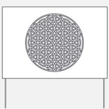 Flower of Life Single White Yard Sign