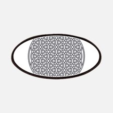 Flower of Life Single White Patch