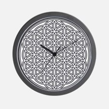 Flower of Life Single White Wall Clock