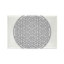 Flower of Life Single White Rectangle Magnet