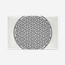 Flower of Life Single White Rectangle Magnet