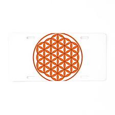 Orange FOL Aluminum License Plate