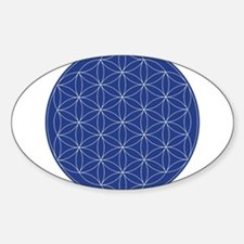 Flower of Life Blue Silver Decal