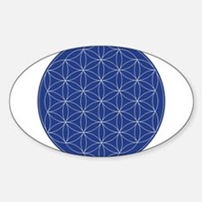 Flower of Life Blue Silver Stickers