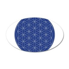 Flower of Life Blue Silver Wall Sticker