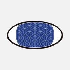 Flower of Life Blue Silver Patch
