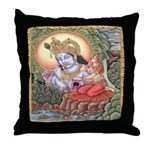 Vision of Krishna Throw Pillow