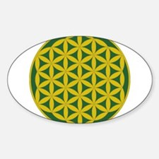 flower of life gold and green Decal