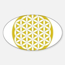 flower of life gold Decal
