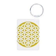 flower of life gold Keychains