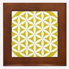 flower of life gold Framed Tile