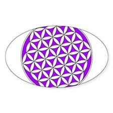 Flower of Life Purple Stickers