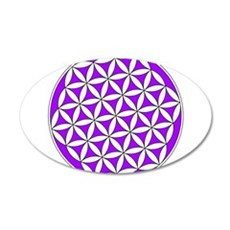 Flower of Life Purple 35x21 Oval Wall Decal