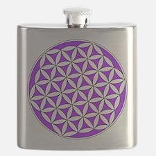 Flower of Life Purple Flask