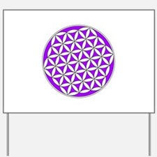 Flower of Life Purple Yard Sign
