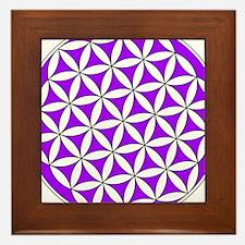 Flower of Life Purple Framed Tile