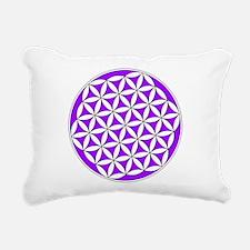 Flower of Life Purple Rectangular Canvas Pillow