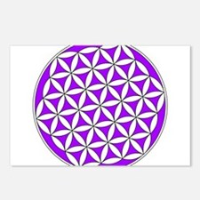 Flower of Life Purple Postcards (Package of 8)