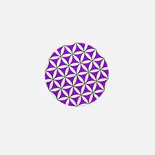 Flower of Life Purple Mini Button (10 pack)