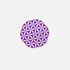 Flower of Life Purple Mini Button